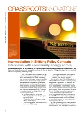 GI Briefing 10: Intermediation In Shifting Policy Contexts: Interviews with community energy actors
