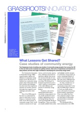 GI Briefing 9: What Lessons Get Shared? Case studies of community energy