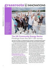 GI Briefing 16: The Community Energy Sector: Findings from the 2011 survey